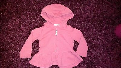 Baby Girls Hooded Jacket. Size 6-9 Months
