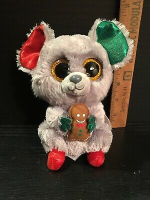 TY BEANIE BOO MAC the Christmas Mouse 6