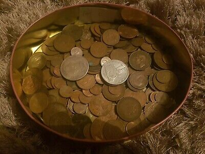 Job Lot Of Old Coins Including 2 American Copy Coins - Lot C
