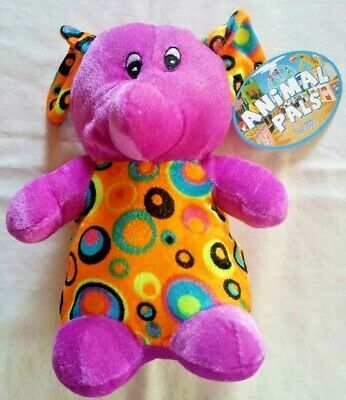 Purple Elephant Stuffed Plush Kelly Toy Animal Pals by Kuddle me Toys 8 in