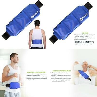 Back Gel Ice Pack Wrap: Pain Relief Heat Pad for Hot & Cold Therapy on Large...