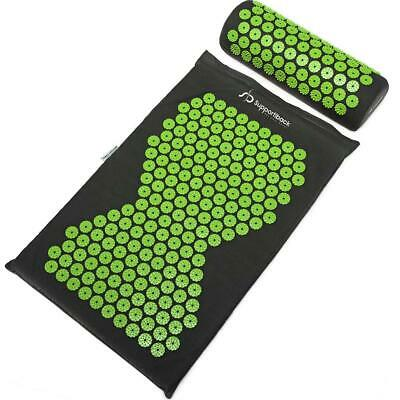 Supportiback® Wellness Therapy Acupressure Mat & Pillow Set - Relieve Back...