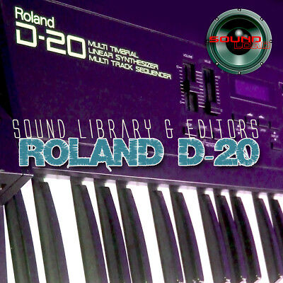 for ROLAND D-20 Original Factory and New Created Sound Library & Editors on CD