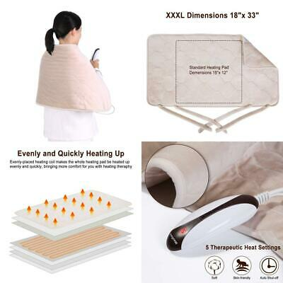 MaxKare Electric Heating Pad with Auto Shut Off, Large Size (18 x 33 inches)...