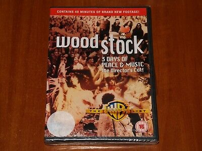 WOODSTOCK 1969 LIVE DVD FILM 3 DAYS OF PEACE & MUSIC CONCERT DIRECTOR'S CUT New