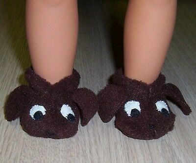 """OUR GENERATION DOLLS PUPPY SLIPPERS Shoes 18"""" American Girl doll clothes Booties"""