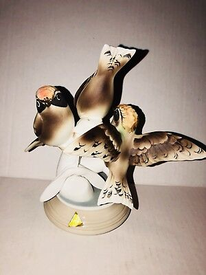 vintage Royal Dux Porcelain Bird Figurine