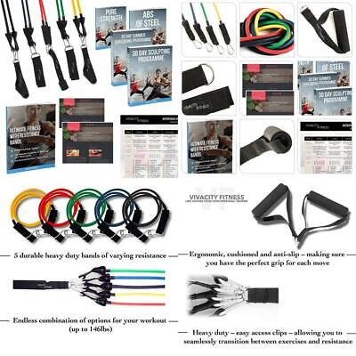 Resistance Bands Set for Home Exercise, Strength Training, Yoga, Pilates,...