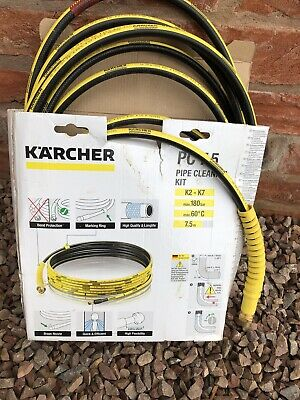 Karcher 7.5m Pipe Cleaning Kit Used For Jet Wash