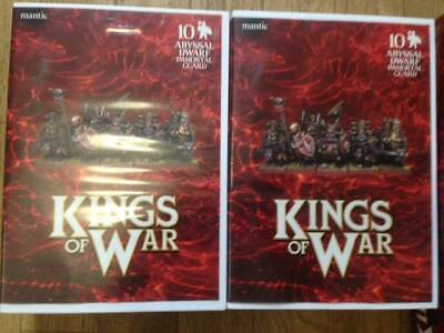 Two boxes of 10 x Abyssal Dwarf Immortals Guards each- Mantic Games - 28mm