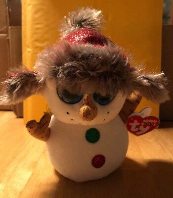 """e5bd541dd1f Ty Beanie Boos Buttons 6"""" Snowman 2018 Holiday Exclusive New with Tag"""