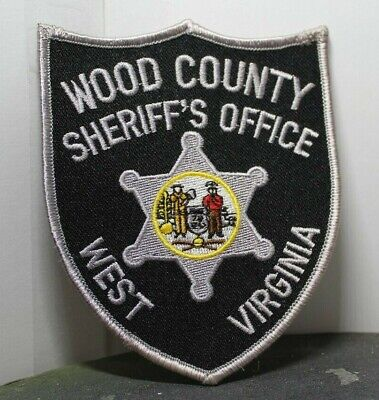 WOOD COUNTY SHERIFF'S Office West Virginia Wv Police Patch Gray
