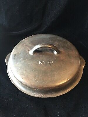 Antique Griswold Wagner No. 8 Cast Iron Dome Lid Dutch Oven Skillet
