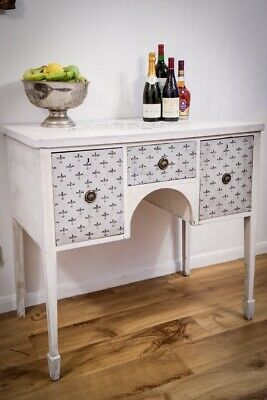 Antique Sideboard Annie Sloan Shabby Chick Painted White Gray