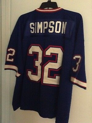 be806732d Buffalo Bills OJ Simpson Size 54 Throwback Jersey Mitchell   Ness 1976 Sewn