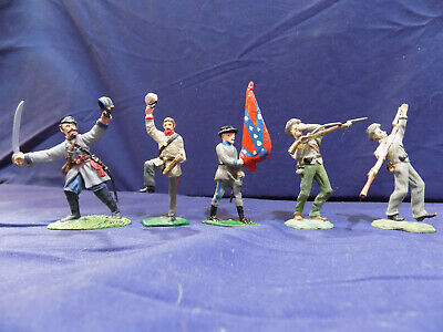 5 Lead Toy Soldiers, Civil War Confederate, Britains 1998 + Misc.