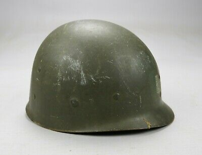 WWII US Army USMC OD M-1 Helmet Liner with Captain Stencil Westinghouse