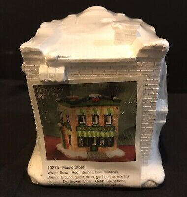 California Creations Village MUSIC STORE #10275 Sealed Ready To Paint VERY RARE