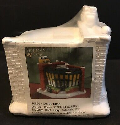 California Creations Village COFFEE SHOP #10286 Sealed Ready To Paint VERY RARE