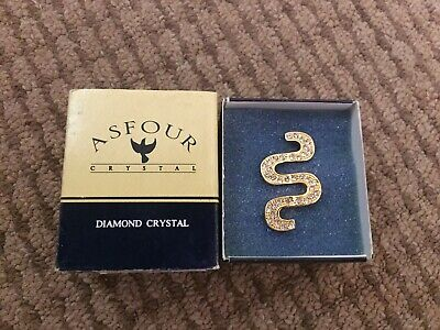 Asfour Gold Crystal Brooch
