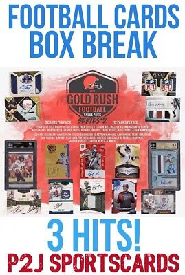 Gold Rush 2018 FOOTBALL VALUE PACK BREAK 1 RANDOM TEAM Break 482 NFL 3 HITS LOOK