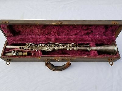 Vintage MID WEST  Metal CLARINET  With Mouthpiece, & Case!