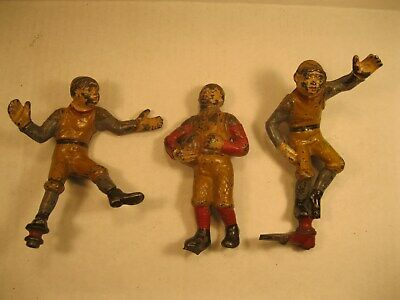 Very Rare Antique J & E Stevens Calamity Mechanical Bank Football Rugby Players