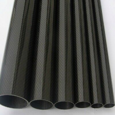 2pcs 10mm*12mm*500mm Roll Wrapped Glossy 3K Carbon Fiber Tube in US