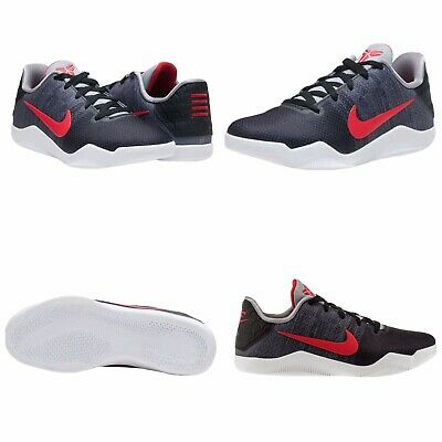 efbe029c5226 YOUTH NIKE KOBE 11 XI Elite Low Achilles Heel Red Black 822945-670 ...