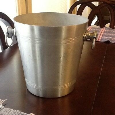 Vintage Vogalu French Champagne Aluminum Wine Cooler Ice Bucket