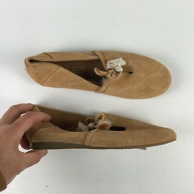 e4d73f9d22 Toms Womens Honey Sneakers Suede Leather Kelli Flat Shoes 6 T916203
