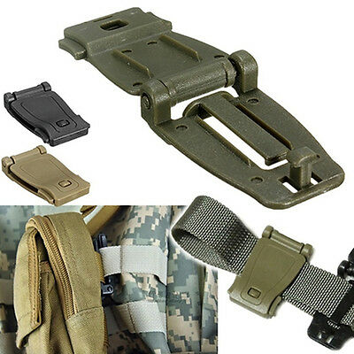 5Pcs EDC Gear Army Fans Outdoor Backpack Fixed Buckle Clip Molle Webbing NEW