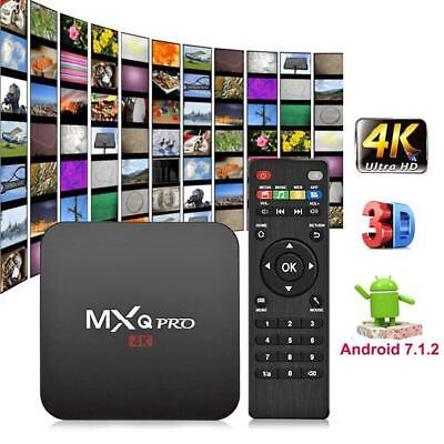 MXQ PRO Android7.1 3D 64Bit Quad Core 2+16G Smart TV Box 4Kx2K WIFI Media Player