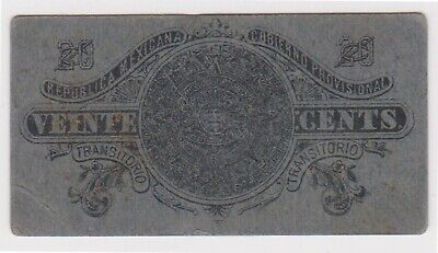 (N22-60) 1914 Mexico 20 centavos revolutionary bank note (BJ)