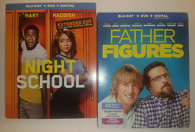 Night School Extended Cut + Father Figures (Blu-Ray+DVD+Slip Cover, NO DIGITAL)