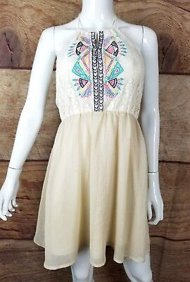 6a8a44c01cf Anthropologie Flying Tomato Dress A Line halter Womens size MEDIUM (A48)