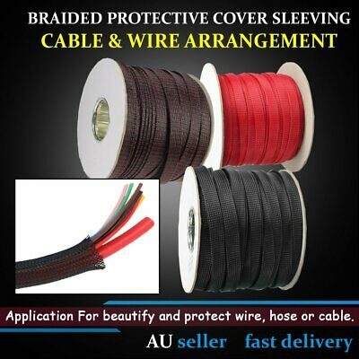 PET Nylon Expandable Tight Density Braided Cable Sleeving Wire Protection Wraps