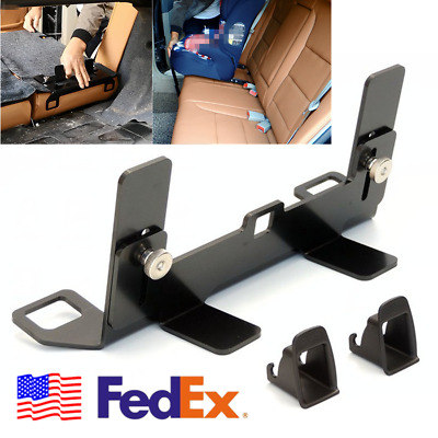 US Steel Car ISOFIX Safety Seat LATCH Rear Bench Baby Child Seat Mounting Holder