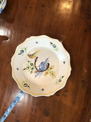 Antique Plate Found In Estate Full Of Henriot Quimper Pottery