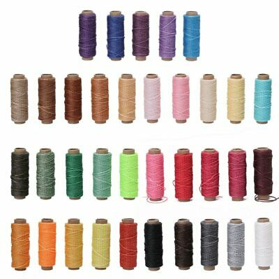 5Pcs 0.88mm 150D Leather Sewing Waxed Thread For Chisel Awl Shoes Luggage Repair