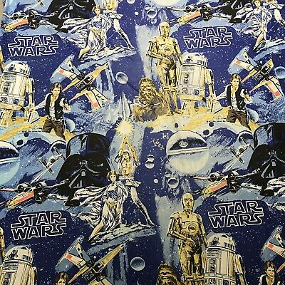 Star Wars Vtg 1977 Fitted Sheet Pillowcase Twin Luke Skywalker Darth Vader Solo
