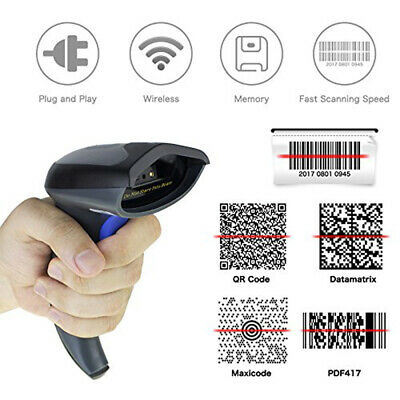 Bluetooth QR 1D 2D Barcode Scanner Handheld USB Wireless bar Codes POS Android