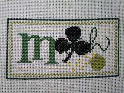 """Finished Completed Cross Stitch """"March"""""""