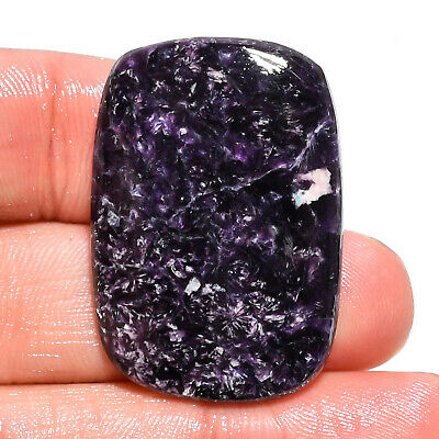 40.45 Ct. Natural Blue Lepidolite Radiant Cabochon Gemstone For Jewelry AK-9158