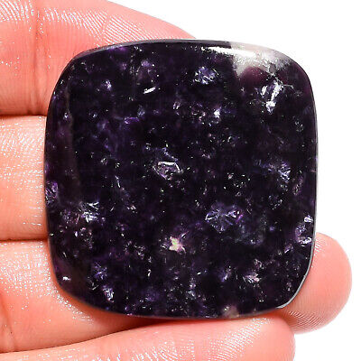 61.65 Ct. Natural Blue Lepidolite Cushion Cabochon Gemstone For Jewelry AK-9188
