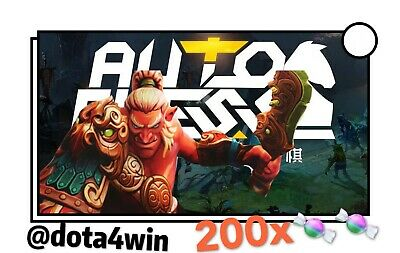 (Global) Dota 2 Auto Chess 🔑200 Candy  Courier Steam