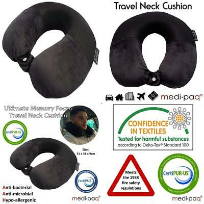 Medipaq® Travel Pillow - Luxury Memory Foam Neck Support Cushion...