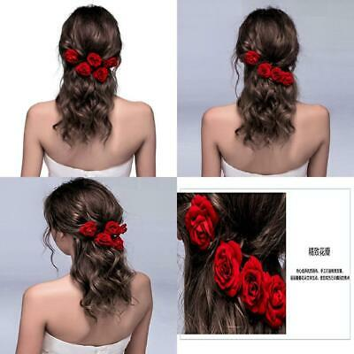 ClassicBeauty Elegant Red Rose Bridal Hair Clips (Set of 4) New 2018 Wedding...