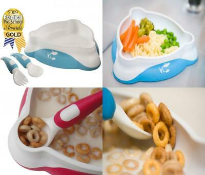 Toddler Training Tableware with FREE Self-feeding Guide, Baby Bowl, Fork and...