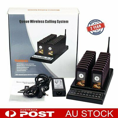 Restaurant Cafe Coaster Pager 20 Call Wireless Paging Queuing Calling System AU